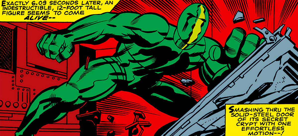 Most Powerful Android (Marvel Comics) (Mad Thinker) (Part 1) bursting through