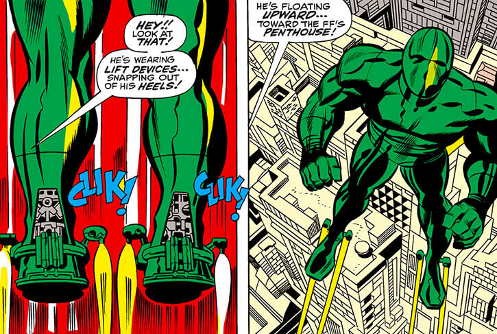 Most Powerful Android (Marvel Comics) (Mad Thinker) (Part 1) jet boots flying