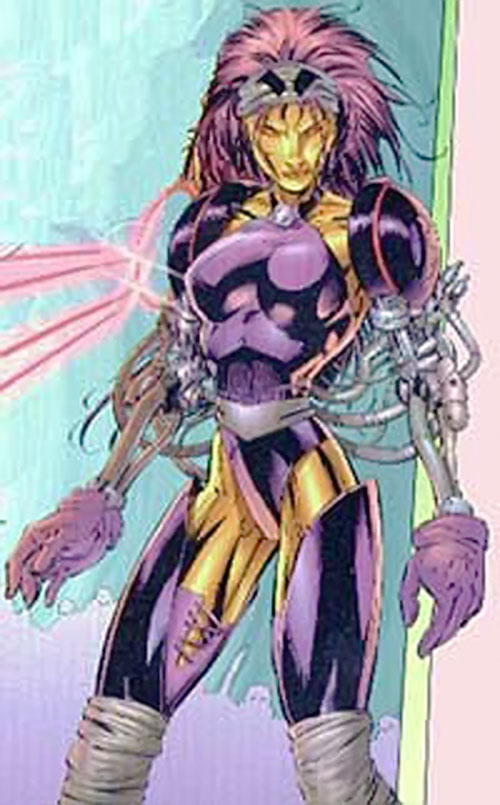 Mother-1 of Wetworks (Image Comics) with her cybernetic arms