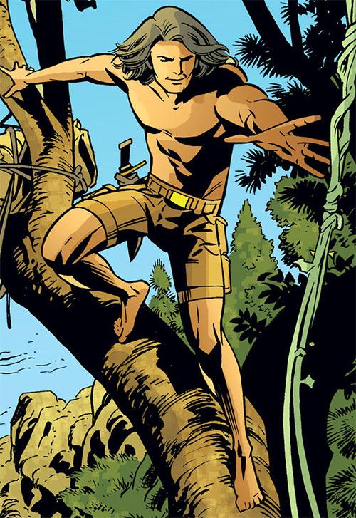Mowgli of the Fables (DC Comics) tarzaning
