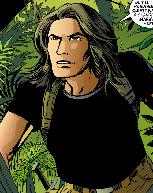 Mowgli of the Fables (DC Comics) exploring a forest