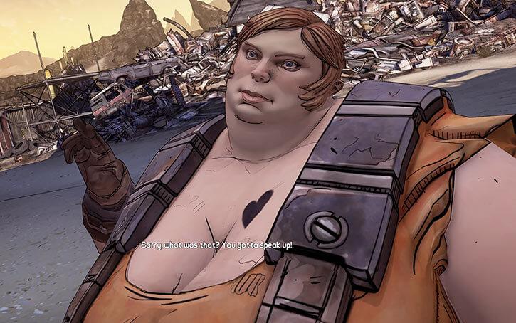 Ellie the mechanic - Borderlands 2 game