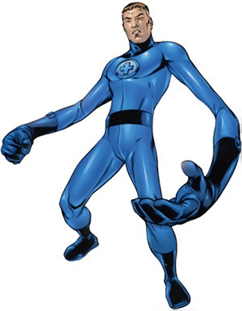 Mister Fantastic (Marvel Comics) with a big hand