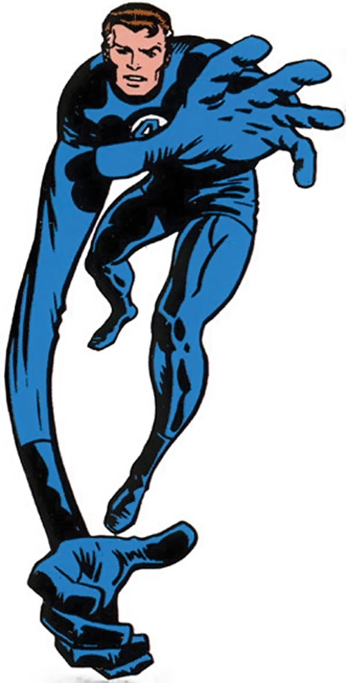Mister Fantastic (Marvel Comics) with a stretched arm