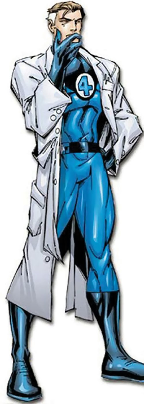 Mister Fantastic (Marvel Comics) with a lab coat