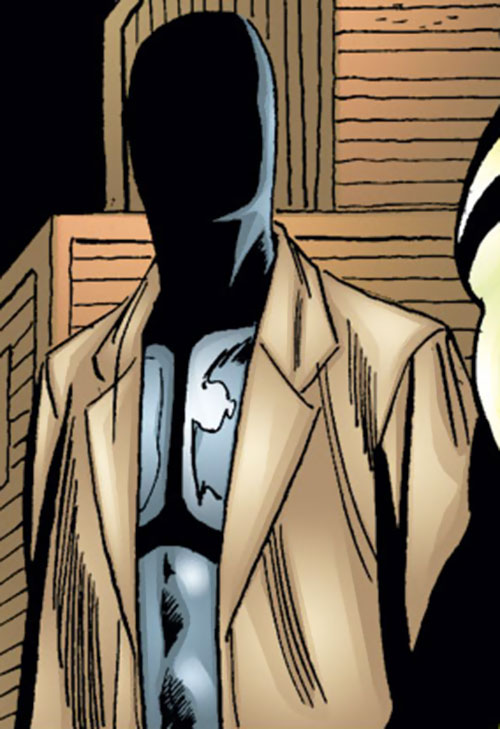 Mister Nobody (Spider-Girl enemy) (Marvel Comics MC2) in a warehouse