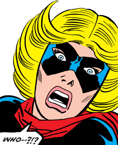 Ms. Marvel (Carol Danvers) during the 1970s, face closeup