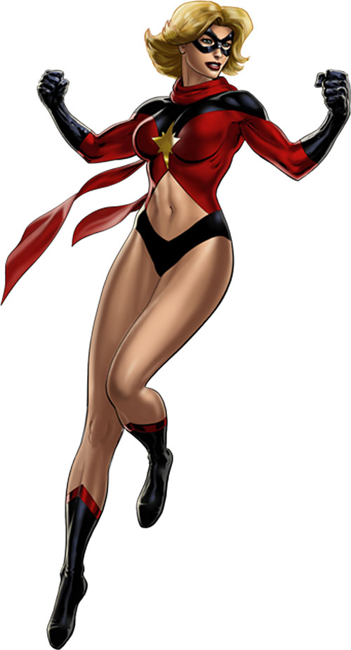 Ms. Marvel (Carol Danvers) during the 1970s, Avengers Alliance art