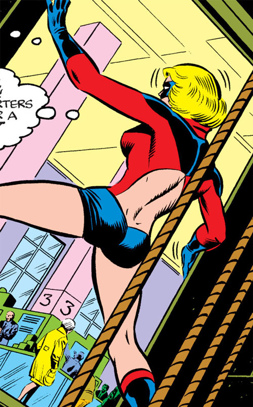 Ms. Marvel (Carol Danvers) during the 1970s, back view