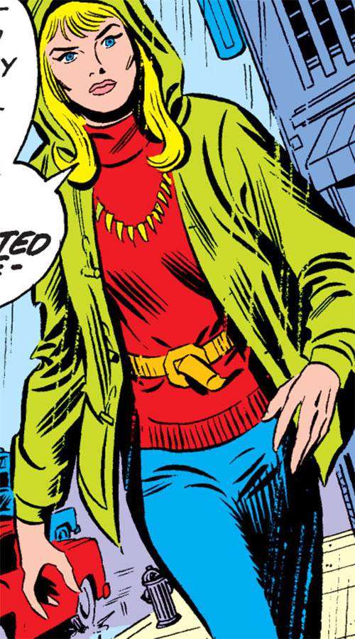 Carol Danvers during the 1970s, in period clothing