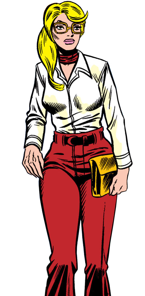 Carol Danvers during the 1970s, with a white blouse