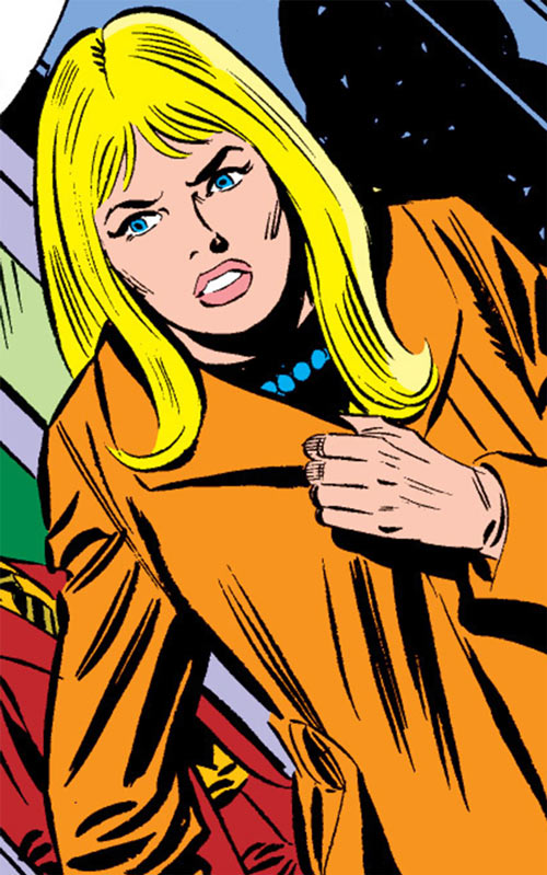 Carol Danvers during the 1970s, apprehensive