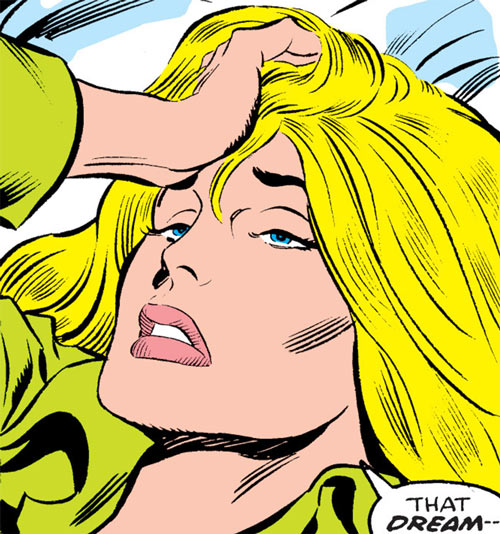 Carol Danvers during the 1970s, waking up