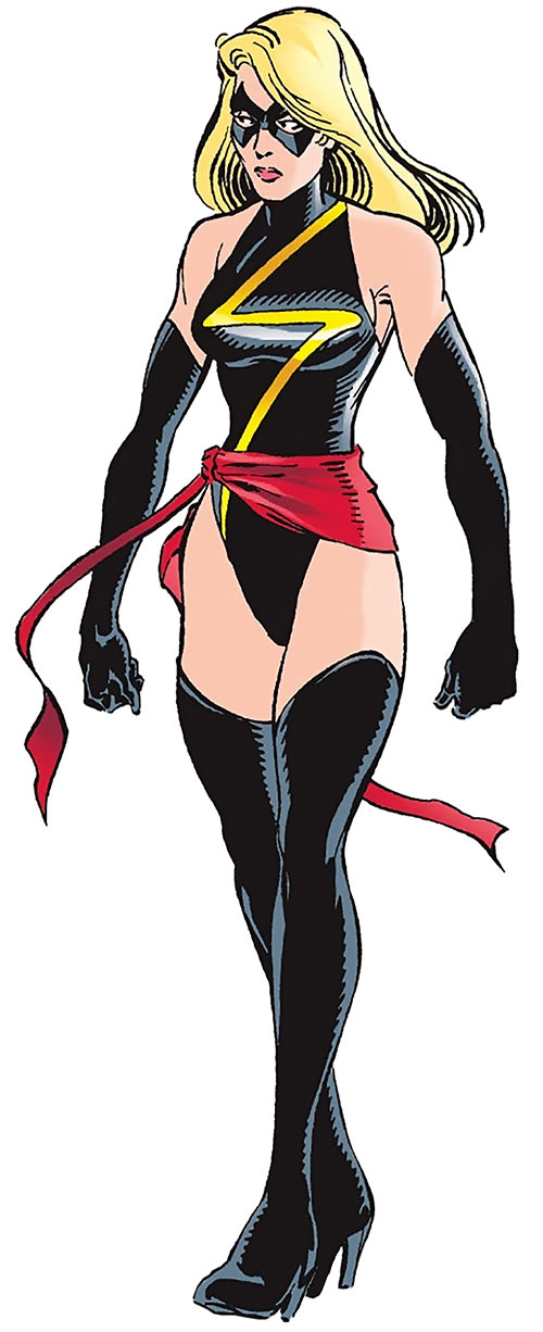 Ms. Marvel comics as Warbird, with the classic costume
