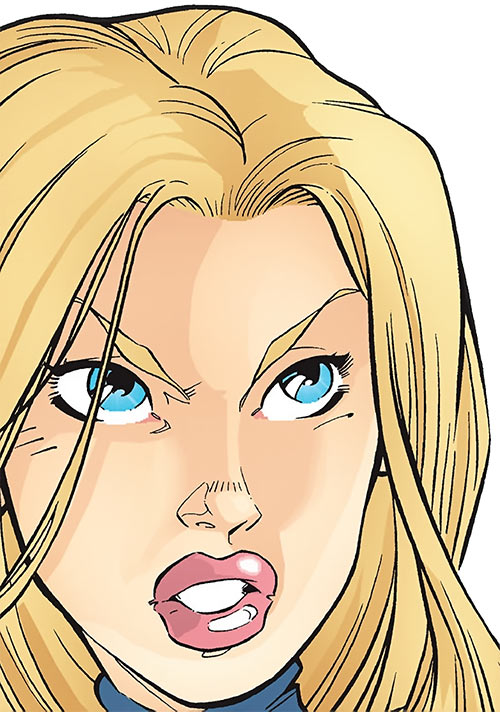 Carol Danvers (Earliest) (Marvel Comics) face closeup manga-ish