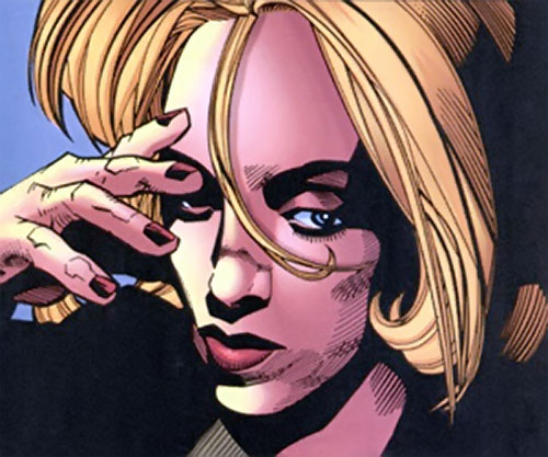 Carol Danvers (Earliest) (Marvel Comics) looking tense