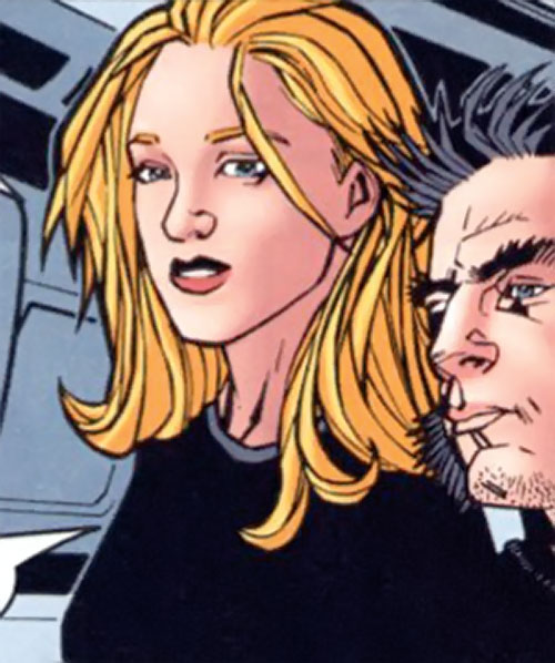 Carol Danvers (Earliest) (Marvel Comics) with Logan