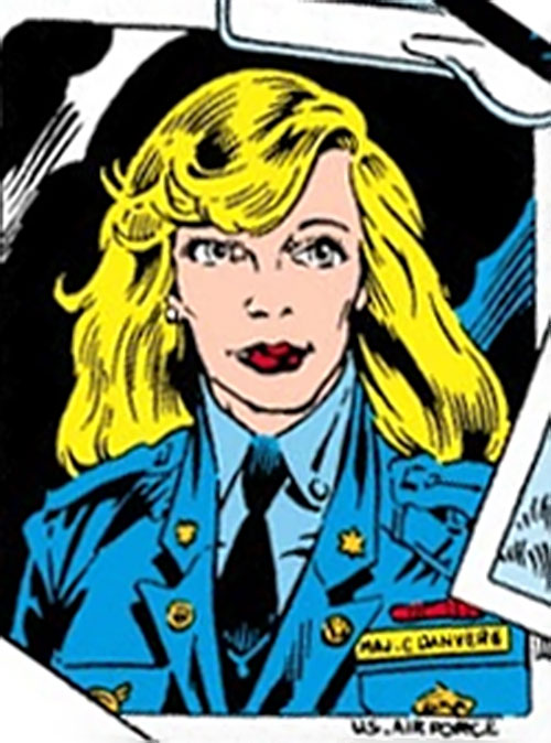 Carol Danvers (Earliest) (Marvel Comics) ID photo in uniform