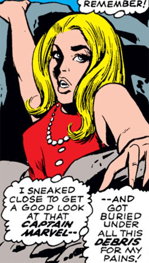 Carol Danvers (Marvel Comics) (Captain Marvel ally) trapped under wreckage