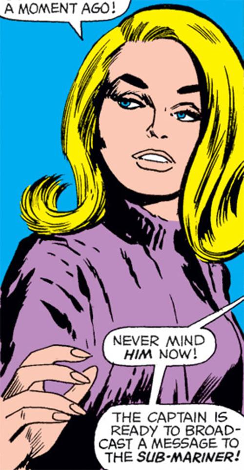 Carol Danvers (Marvel Comics) (Captain Marvel ally) portrait in a purple pullover