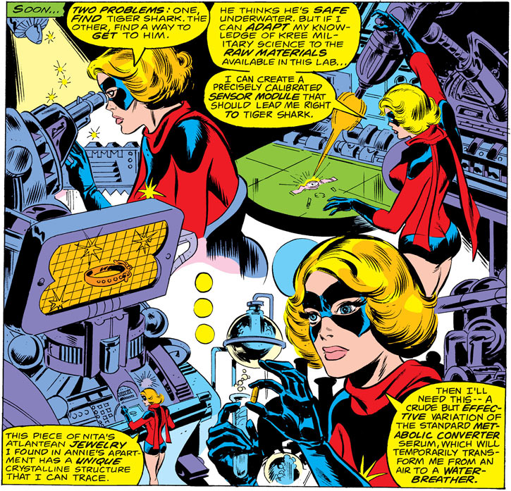 Ms. Marvel (Carol Danvers) uses Kree science