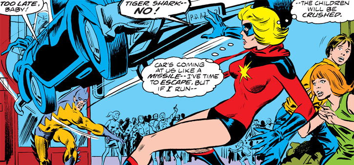 Ms. Marvel (Carol Danvers) vs. Tiger Shark