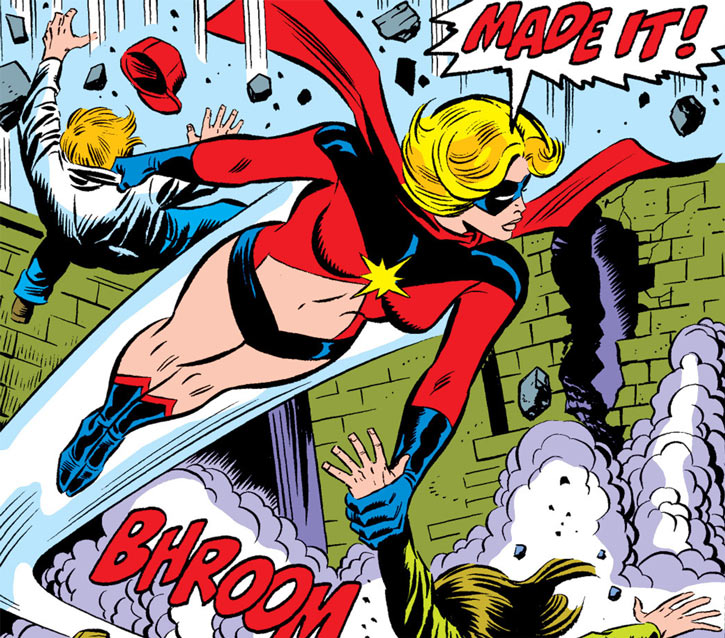 Ms. Marvel (Carol Danvers) rescues two children