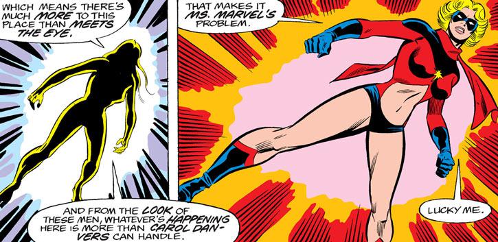 Ms. Marvel (Carol Danvers) transforming