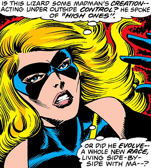 Ms. Marvel (Carol Danvers) (Marvel Comics) 1980s face closeup