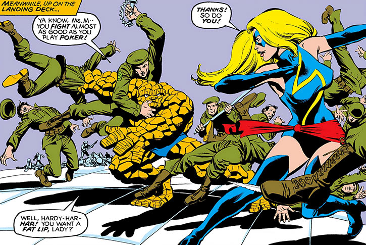 Ms. Marvel (Carol Danvers) (Marvel Comics) 1980s and the Thing