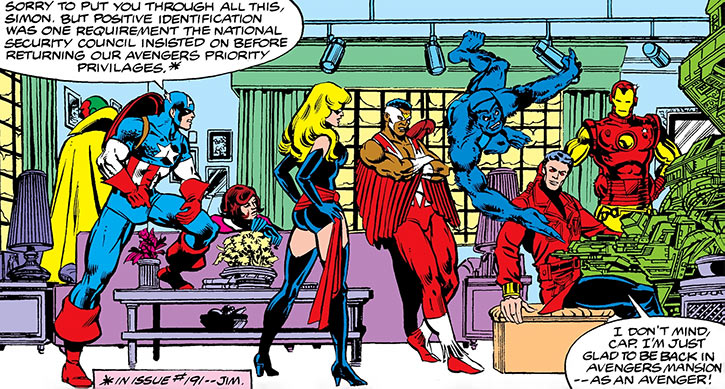Ms. Marvel (Carol Danvers) (Marvel Comics) 1980s and the Avengers