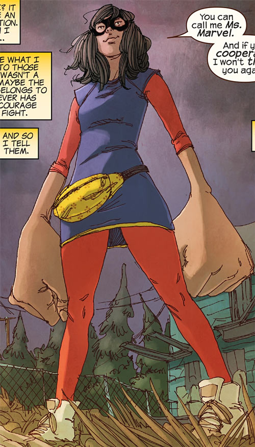 Ms. Marvel comics (Kamala Khan) earliest costume fanny pack