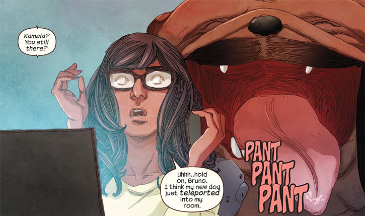 Ms. Marvel comics (Kamala Khan) and Lockjaw