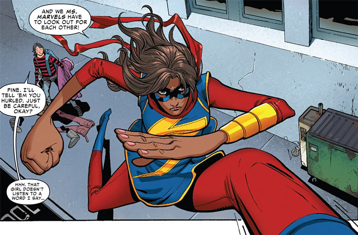 Ms. Marvel comics (Kamala Khan) giant stride