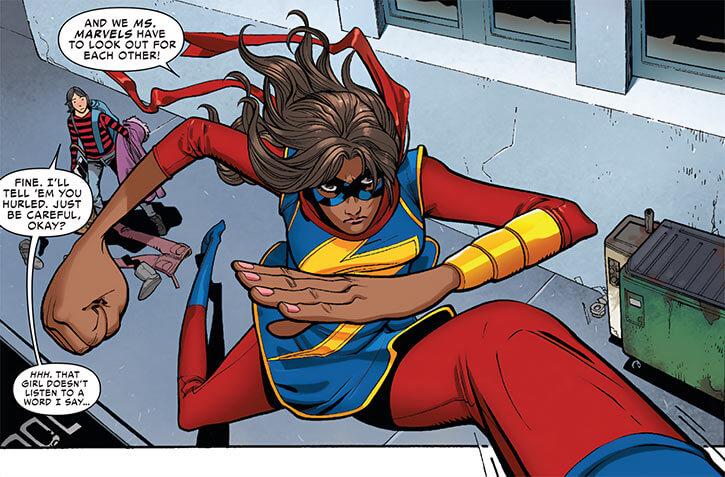 Ms. Marvel comics (Kamala Khan) giant stride