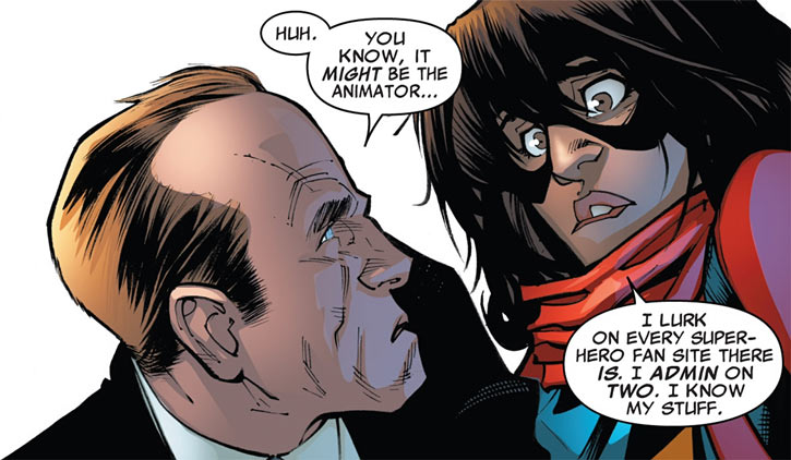Ms. Marvel comics (Kamala Khan) and Agent Coulson