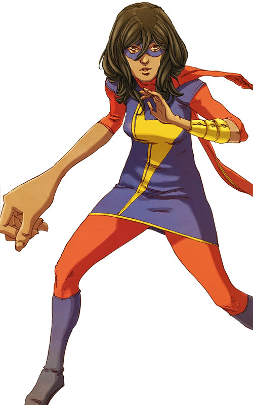 Ms. Marvel comics (Kamala Khan) embiggened right hand
