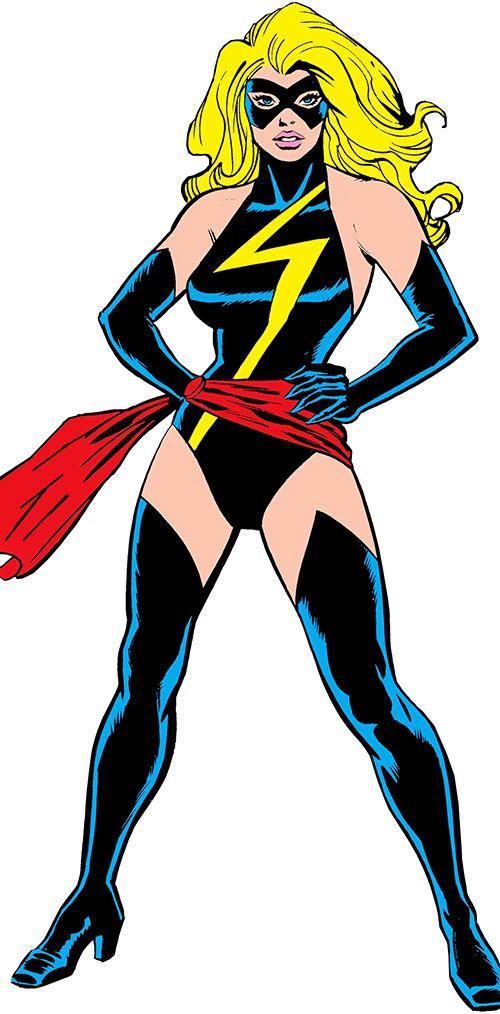 Ms. Marvel comics (Caroil Danvers) with the original black costume
