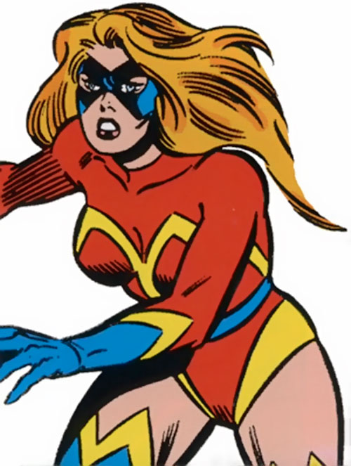 Ms. Marvel Comics (Sharon Ventura) (Early) in action
