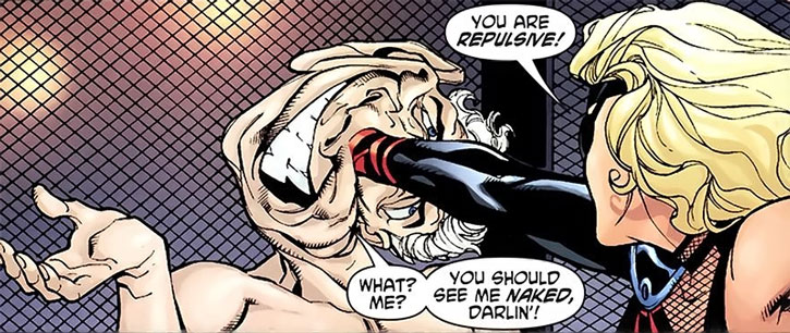 Muck ignores Black Canary's punch