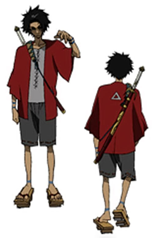 Mugen (Samurai Champloo) model sheet