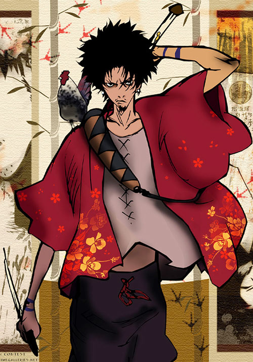 Mugen (Samurai Champloo) from a cover