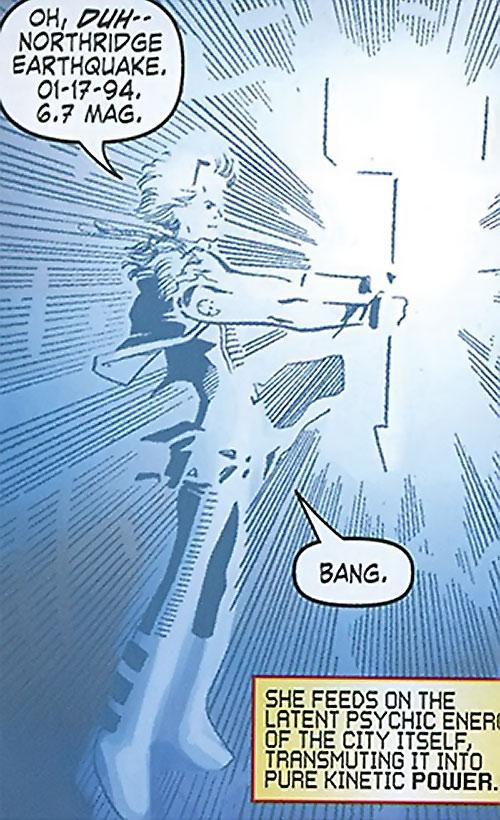 Mulholland Black of the Order (Marvel Comics) summoning huge kinetic energy