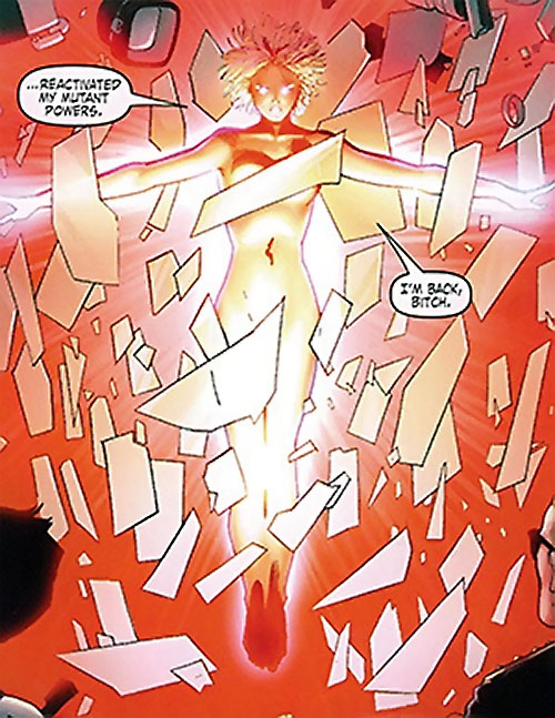 Mulholland Black of the Order (Marvel Comics) recovers her powers