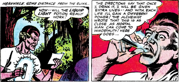 Multi-Man (Challengers enemy) (DC Comics) drinks the elixir