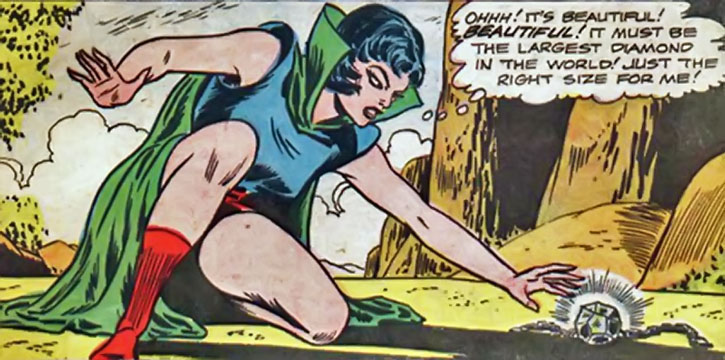 Multi-Woman finds a giant diamond