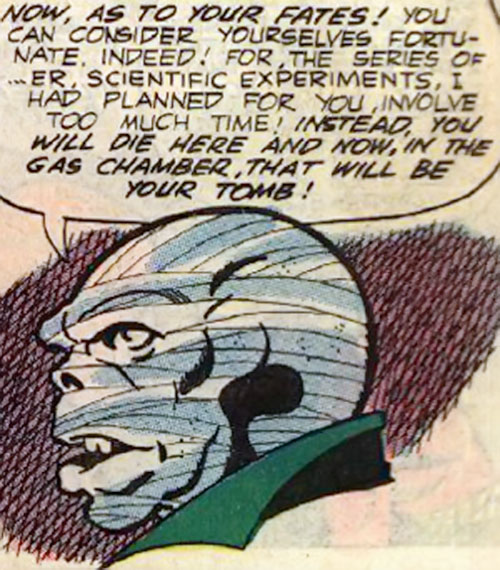 The Mummy (Peter Cannon Thunderbolts enemy) (Charlton Comics) face closeup side view