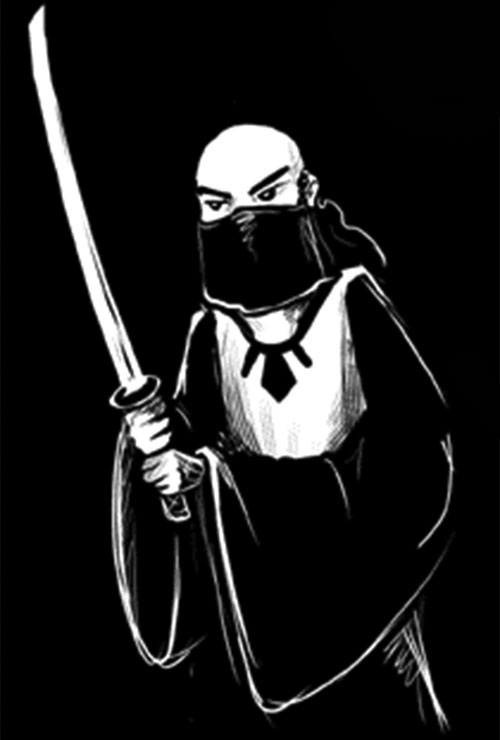 Murai (Digger comics by Ursula Vernom) with a katana