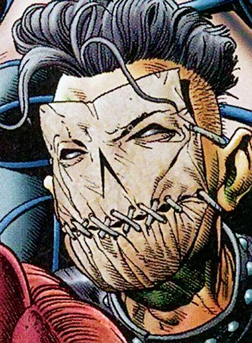 Murmur (Flash enemy) (DC Comics) mask closeup