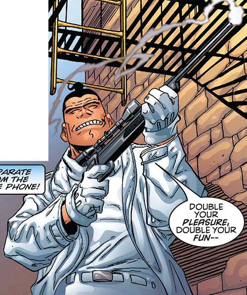 Murphy Brothers with a sniper rifle (Marvel Comics)